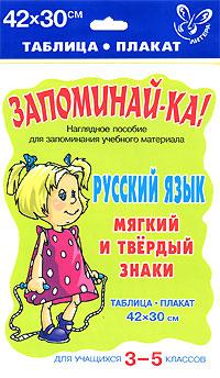 Русский язык. Мягкий и твердый знаки. Для учащихся 3-5 классов