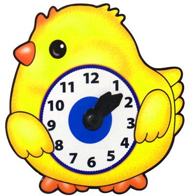 Развивающая игрушка Часы Цыпленок