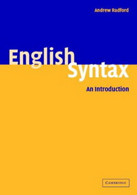English Syntax: An Introduction acquisition of english syntax