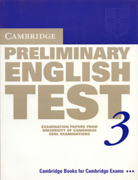 Cambridge Preliminary English Test 3 cambridge key english test 3 examination papers from university of cambridge esol examinations