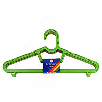"""Набор детских вешалок """"Полимербыт"""", цвет: зеленый, размер 40-42, 3 шт"""