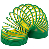 Пружинка Slinky neon, цвет: зелено-желтый