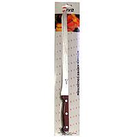 Нож для нарезки ветчины Ivo, 27,5 см. 1201412014Нож для нарезки ветчины Ivo займет достойное место среди аксессуаров на вашей кухне. Нож выполнен из стали. Длинный нож с эргономичной пластиковой ручкой поможет Вам без особого труда нарезать ветчину. Для Компании Ivo характерно использование последних технологических разработок. Тщательно отобранное сырье и прекрасный дизайн ножей от Ivo отвечает интересам самых требовательных покупателей, а также профессиональных поваров. Чтобы соответствовать этому стандарту, для изготовления ножей была выбрана сталь высочайшего качества.Отличительная особенность ножей фирмы - это безукоризненно острое лезвие, не нуждающееся в заточке. Уход за ножами очень прост! Для поддержания ножей в рабочем состоянии достаточно 1 раз в месяц обработать край лезвия мусатом (специальным точилом). Для чистки ножей подойдут неабразивные моющие средства.Характеристики:Длина лезвия: 27,5 см. Длина ножа: 41 см. Материал: сталь. Производитель: Португалия.