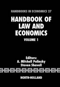 Handbook of Law and Economics: 1 (Handbook of Law and Economics) handbook of the economics of giving altruism and reciprocity foundations handbooks in economics