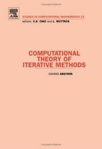 Computational Theory of Iterative Methods, Volume 15 p k rao the economics of transaction costs theory methods and applications