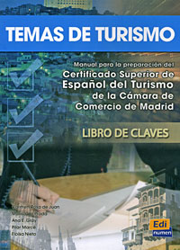 Temas de turismo: Manual para la preparation del Certificado Superior de Espanol del Turismo de la Camara de Comercio de Madrid. Libro de Claves silla de director plegable de madera con bolsas para maquillaje pelicula studio hw46460