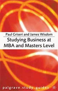 Stuying Business at MBA and Masters Level