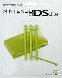 Стилус для Nintendo DS Lite зеленого цвета (комплект из 3 шт.)