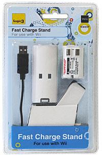 Станция быстрой зарядки + аккумулятор 1400 мАч для игровой системы Wii, Logic3