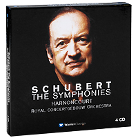 Николаус Арнонкур,Royal Concertgebouw Orchestra Nikolaus Harnoncourt. Schubert. The Symphonies (4 CD) cd диск st petersburg state so vladimir lande weinberg mieczyslaw symphony no 12 in memory of dmitry shostakovich the golden key suite no 4 1 cd