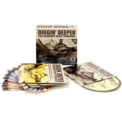 Diggin' Deeper.  200 Legendary Blues Treasures (10 CD) Membran Music Ltd.,Gala Records