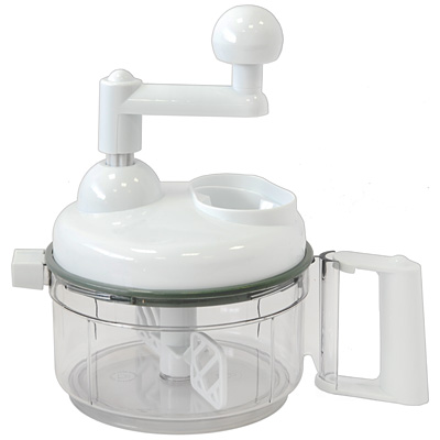 Кухонный процессор Dekok многофункциональный, цвет: белый. UKA-1108UKA-1108Многофункциональный кухонный процессор Dekok предназначен для нарезки, измельчения, смешивания и взбивания продуктов.Особенности кухонного процессора:Многофункциональная терка: четыре сменных насадки для крупной нарезки, мелкой нарезки, крупной шинковки, мелкой шинковки, пластиковая терка для пюре;Миксер: взбиватель-смеситель, отделитель яичного желтка;Соковыжималка: двух размеров для всех видов цитрусовых фруктов;Роторные ножи-измельчители двух видов: - для овощей, грибов, рыбы, мяса, очищенных от скорлупы орехов;- для колки льда.Кухонные устройства Dekok отличают: инновационность - новый взгляд на привычные приспособления, возможность их настроек и регулировок;многофункциональность - во многих изделиях идеально воплощен принцип все в одном;индивидуальный подход - различные варианты комплектаций и размеров кухонных устройств позволят подобрать инструмент с учетом индивидуальных потребностей. Dekok - готовьте с любовью! Комплектация: пластиковая емкость, крышка процессора с вращающейся ручкой, крышка для емкости процессора, отделитель яичного желтка, роторный нож с тремя лезвиями для резки и измельчения овощей, роторный нож для колки льда, венчик для взбивания, база для насадок, насадка с крупной теркой, насадка с мелкой теркой, насадка с крупной шинковкой, насадка с мелкой шинковкой, большая и малая соковыжималка для цитрусовых, держатель для цитрусовых. Характеристики: Материал: пластик, нержавеющая сталь. Размеры процессора (без ручки): 16 см х 16 см х 11,5 см. Цвет: белый. Насадки: 2 терки, 2 шинковки, 2 ножа, 2 соковыжималки для цитрусовых, держатель, венчик, отделитель яичного желтка. Размер упаковки: 18 см х 17 см х 29 см. Производитель: Австрия. Артикул: UKA-1108. Прилагается руководство по эксплуатации на русском языке.
