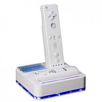 Зарядная станция + аккумулятор для игровой системы Nintendo WiiNW856Зарядная станция от Logic 3 включает:Аккумулятор 1200 mAh для пульта.Гнездо для зарядки пульта.Место для зарядки двух АА аккумуляторов.Подставка для хранения пульта для Wii.