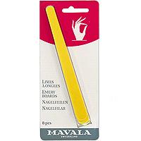 Пилочка Mavala для маникюра, 8 шт06-189Пилка предназначена для придания формынатуральным ногтям. Она прекрасно подходитдля обработки даже самых хрупких и тонких ногтей. Этой пилочкой легко сгладить грубую кожу вокруг ногтя. Способ применения: используйте желтую сторону для придания ногтям желаемой длины. Чтобы сохранить природную силу ногтей, избегайте попадания пилки слишком глубоко по углам ногтей. При помощи более гладкой, голубой стороны пилки Вы сможете хорошо опилить края ногтей. Желтая сторона пилки имеет более крупную абразивность и хорошо подходит для педикюра. Набор состоит из 8 пилочек. Характеристики: Количество пилочек: 8. Длина пилочки: 14,5 см. Производитель: Швейцария. Артикул: 906.12Товар сертифицирован.