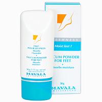 Тальк для ног Mavala, 50 г07-139Освежающий тальк для ног впитывает пот, и благодаря своим бактерицидным и антибактериальным свойствам, убивает микроорганизмы вызывающие запах. Эта легко ароматизированная пудра защищает кожу и делает ее мягкой на ощупь. Ее продолжительное действие обеспечивает замечательную свежесть на протяжении всего дня. Характеристики: Вес: 50 г. Производитель: Швейцария. Артикул: 9077114. Товар сертифицирован.