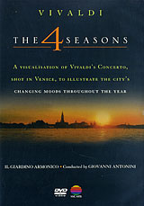 This special visualisation of this most famous Vivaldi concerto, The Four Seasons, is shot in Venice, where the composer conceived the work. It captures the atmosphere of this stunningly beautiful city in all its varied moods and aspects throughout the year: in spring, when sunlight starts to sparkle on the water, the city awakens and romance is in the air; in summer when the tourists arrive, adding new life and energy to this teeming city as they wander through narrow alleyways, visiting Venice's beautiful squares and churches, and taking in the city's stunning vistas from vaporettos and gondolas; in autumn when the city takes on a different mood as the visitors go home and Venice is seen against a darkening night sky; and in winter when an icy blast sweeps across the lagoon. Against the famous backdrop of the lagoon and the Grand Canal, this film also shows craftsmen at work making gondolas, musical instruments and Murano glass.