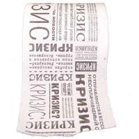 Бумага туалетная Эврика Кризис89941Качественная двухслойная туалетная бумага Кризис - оригинальный сувенир для людей, ценящих чувство юмора. Бумага оформлена цитатами из газет и разными фразами по поводу кризиса. Рулон имеет стандартный размер и упакован в пленку.Ширина рулона: 10,5 см.