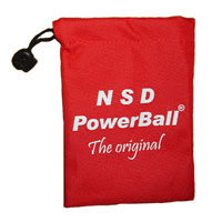 Мешочек для кистевого тренажера Powerball. Цвет: красный, NSD Power