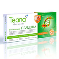 Концентрат Teana IPF. Растительная плацента, 10 ампул сыворотка скульптор teana youth elixir 3 для моделирования овала лица 10 ампул