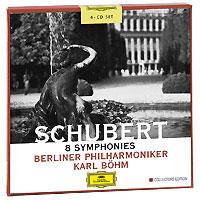 Карл Бем,Berliner Philharmoniker Karl Bohm. Schubert. 8 Symphonies (4 CD) karl bohm mozart sinfonie concertanti