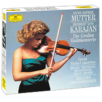Anne-Sophie Mutter, Herbert Von Karajan. Great Violin Concertos (4 CD)
