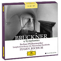 Юджин Йохум,Berliner Philharmoniker,Symphonie-Orchester Des Bayerischen Rundfunks Eugen Jochum. Bruckner. 9 Symphonies. Collectors Edition (9 CD) 9 cd