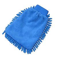 "Рукавица для уборки Eva ""Спагетти"", комбинированная, цвет: синий, 16 х 22 см"