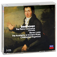 Стивен Лубин,Кристофер Хогвуд,The Academy Of Ancient Music Steven Lubin, Christopher Hogwood. Beethoven. The Piano Concertos / 3 Sonatas (3 CD) piano sonatas cd