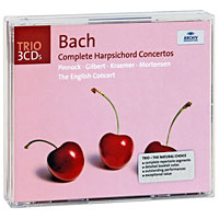 Тревор Пиннок,The English Concert Orchestra Trevor Pinnock. Bach. The Harpsichord Concertos (3 CD) trevor pi bach gold
