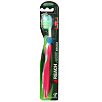 Зубная щетка Reach Fresh Breath, средняя жесткость aquafresh зубная щетка in between средней жесткости зубная щетка in between средней жесткости 1 шт