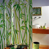 Штора Bambus green, 180 х 200 см1042057Штора для ванной комнаты Bambus green изготовлена из текстиля с гидрофобной пропиткой. В верхней кромке шторы сделаны отверстия для колец, нижняя кромка снабжена специальным отягощающим шнуром, который придает шторе естественную ниспадающую форму. Штору можно стирать в стиральной машине при температуре не выше 40 градусов, можно гладить, как синтетический материал. Шторы от компанииSpirella отличает яркий, красочный дизайн рисунков и высокое качество (гарантия на изделие 3 года). Сделайте вашу ванную комнату еще красивее! Характеристики: Материал: текстиль, полиэстер. Размер шторы: 180 см х 200 см. Артикул: 1042057. Производитель: Швейцария.