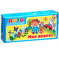 Лото детское Мир вокруг настольные игры анданте развивающее лото герои сказок 36 деревянных фишек 6 карточек мешочек