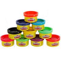 Play-Doh, Пластилин 10 цветов, в тубусе play doh b6756 пластилин 1 банка 112 гр в ассорт фиол розов оранж голуб желт