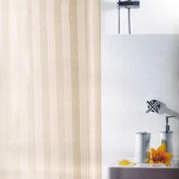 Штора для ванной комнаты Magi Jasmin, цвет: бежевый, 240 х 180 см1011155Штора для ванной комнаты Magi Jasmin изготовлена из текстиля с гидрофобной пропиткой. В верхней кромке шторы сделаны отверстия для колец, которые обработаны пластиком, нижняя кромка снабжена специальным отягощающим шнуром, который придает шторе естественную ниспадающую форму. Штору можно стирать в стиральной машине при температуре не выше 40 градусов, можно гладить, как синтетический материал. Шторы от компанииSpirella отличает яркий, красочный дизайн рисунков и высокое качество (гарантия на изделие 3 года). Сделайте Вашу ванную комнату еще красивее! Характеристики: Материал: 100% полиэстер. Размер шторы (ШхВ): 240 см х 180 см. Производитель: Швейцария. Артикул: 1011155.