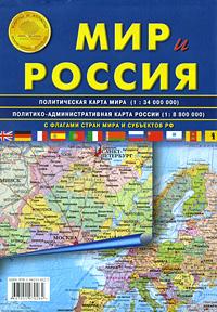 Мир и Россия стираемая карта мира купить