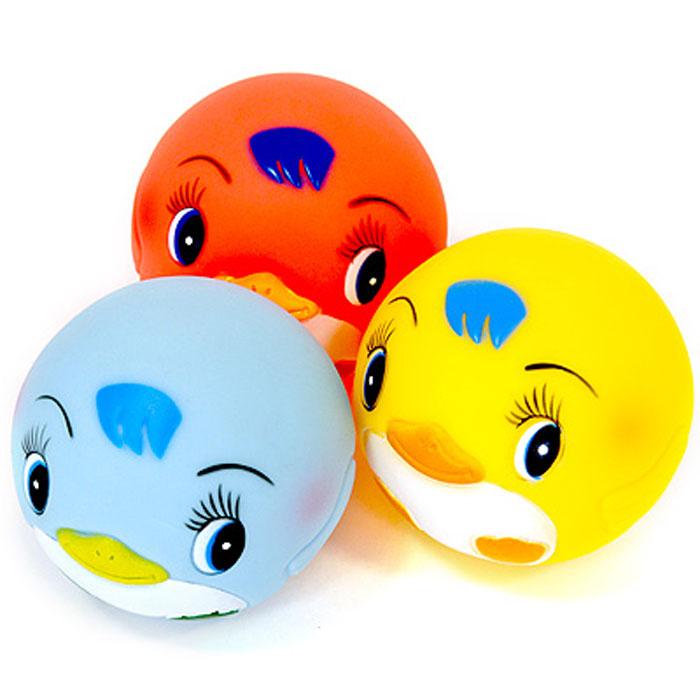 Курносики Игрушка для ванной Мячики-пингвины цвет желтый розовый голубой 3 шт