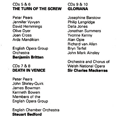 Britten Conducts Britten.  Operas 2 (10 CD) Decca,ООО