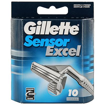Сменные кассеты для бритья Gillette Sensor Excel, 10 шт.  Gillette -лучше для мужчины нет!  Бритвенные кассеты для Gillette...