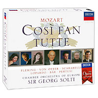 Георг Шолти,The Chamber Orchestra Of Europe Sir Georg Solti. Mozart. Cosi Fan Tutte (3 CD) novotech fable 369844 black