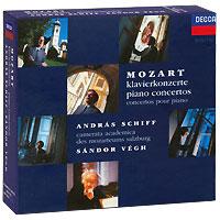 Андрас Шифф,Sandor Vegh Andras Schiff, Sandor Vegh. Mozart. Piano Concertos (9 CD) хорхе болетт jorge bolet liszt piano music 9 cd