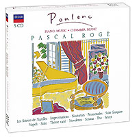 Pascal Roge. Poulenc. Piano And Chamber Music (5 CD)