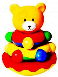 Игрушка-пирамидка Мишка-топтыжка игрушка пирамидка мишка топтыжка