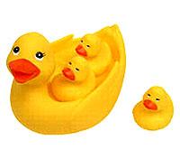 Игрушка для ванной Уточка с утятами развивающая игрушка огонек уточка с утятами