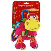 Развивающая мягкая игрушка подвеска Веселый бегемотик вибрирующая игрушка мир детства бегемотик