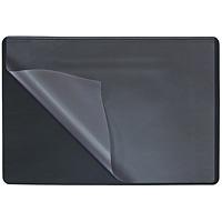 """Коврик на стол """"Durable"""" с прозрачным листом, цвет: черный, 650х520"""
