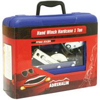 Лебедка ручная Adrenalin Hand Winch 1000 кг в кейсе19991Ручная лебедка Adrenalin Hand Winch позволяет вытащить застрявший на бездорожье автомобиль. Ручная лебедка может быть использована в гараже или на даче для перемещения грузов при монтажных и демонтажных работах. В ручку лебедки встроен светодиодный фонарик. Лебедка поставляется в удобном кейсе для переноски.
