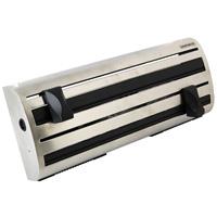 Контейнер кухонный Pro line25660Кухонный контейнер Pro line предназначен для хранения рулонов c бумажным полотенцем, фольгой и полиэтиленовой пленкой. Контейнер удобно крепится на стене, рулоны закладываются спереди и разрезаются с помощью режущих планок. Изготовлен из нержавеющей стали и высококачественного пластика. Характеристики:Материал: нержавеющая сталь, пластик. Размер: 37,5 см х 15 см х 6 см. Производитель: Германия. Артикул: 25660.Немецкий концерн Leifheit - ведущий европейский производитель предметов домашнего обихода и кухонных принадлежностей. Leifheit - это оригинальные разработки, современный дизайн и гарантированное качество товара.Продукция Leifheit: неэлектрические бытовые приборы и предметы домашнего обихода, кухонные принадлежности, термосы, сушки для белья напольные и настенные, гладильные доски, покрытия для гладильных досок, щетки для чистки одежды и многое другое.