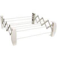 Сушилка для белья Teleclip, цвет: белый83303Сушилка для белья Teleclip белого цвета - это настенная складная вешалка для просушивания белья в ванной комнате, кухне или балконе. Сушилка имеет 8 пластиковых струн (длиной 52 сантиметра каждая), которые выдерживают половину стандартной загрузки стиральной машины после стирки и отжима (2-2,5 килограмма первоначального белья). Сушилка надежно крепится к стене.В комплект входят крепежные элементы. Характеристики: Материал: пластик, металл. Размер сушилки: 60 см х 19,5 см х 11 см. Цвет: белый. Производитель: Германия. Артикул: 83303.Немецкий концерн Leifheit - ведущий европейский производитель предметов домашнего обихода и кухонных принадлежностей. Leifheit - это оригинальные разработки, современный дизайн и гарантированное качество товара.Продукция Leifheit: неэлектрические бытовые приборы и предметы домашнего обихода, кухонные принадлежности, термосы, сушилки для белья напольные и настенные, гладильные доски, покрытия для гладильных досок, щетки для чистки одежды и многое другое.