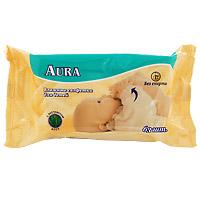Влажные салфетки для детей Aura, 63 шт салфетки duni салфетки duni комплект 2 шт