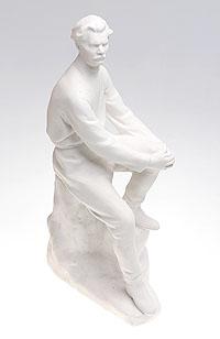 Статуэтка Максим Горький. Бисквит. СССР, ЛФЗ, середина ХХ века статуэтка леди в синем платье высота 32 см